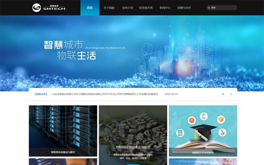 【上市公司网站建设】国脉科技股份有限公司